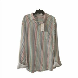 Tommy Bahama luxe linen long sleeve shirt